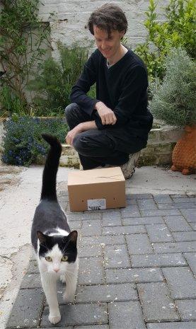 Visiting cat