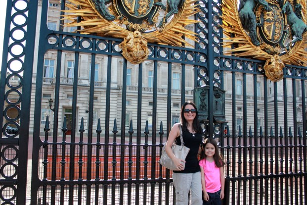 Mia and I in front of the Buckingham Palace Gates!