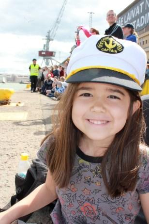 Mia enjoying the Parade of Sails!
