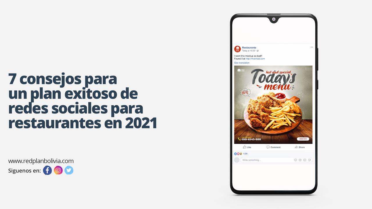 Consejos para un plan de redes sociales para restaurantes en 2021