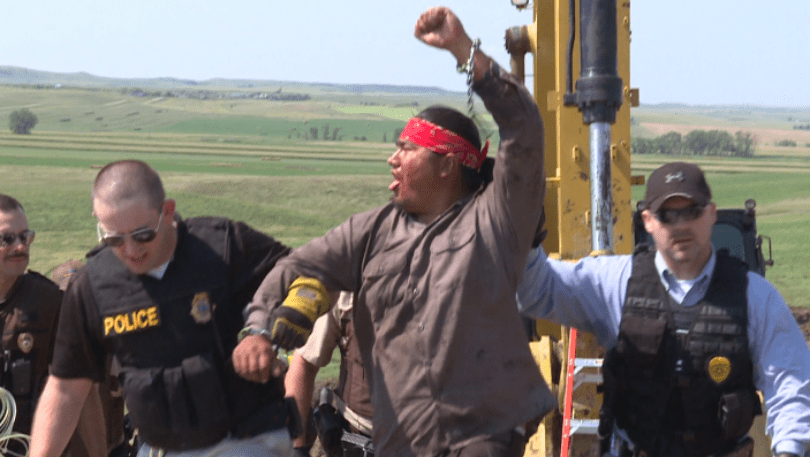Pipeline Fighters Arrested In North Dakota And Iowa After Disrupting Dakota Access Worksites (VIDEO)