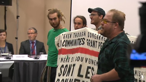 NEB's Energy East Hearings In Montreal Cancelled After Protesters Storm Room