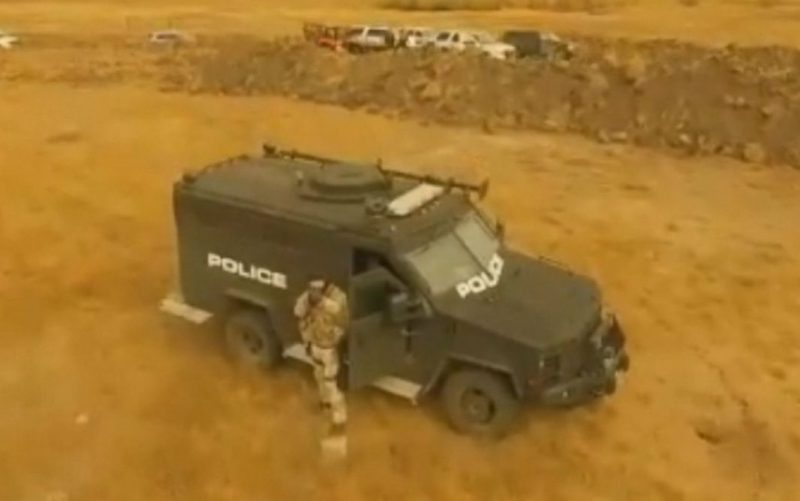 Law Enforcement Shoot At Drone During Dakota Access Pipeline Protest
