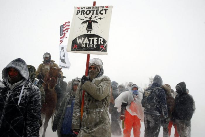 Standing Rock Chairman Asks Protesters to Disband, Trump to Review Pipeline Decision