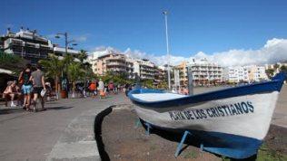 stock-footage-los-cristianos-spain-mar-old-fishing-boat-playa-de-los-cristianos-march-in-los