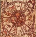 Zodiac in a 6th century synagogue at Beit Alpha, Israel. Photo publicdomain.