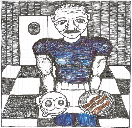 Breakfast At Beto's, doodle © 2007 by ybonesy, all rights reserved