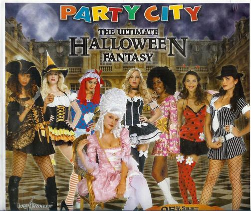 Party City Halloween costume circular, front cover