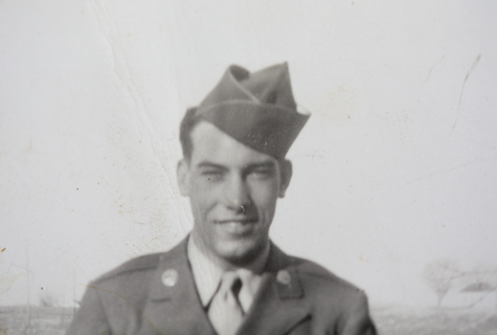 Uncle Vernon (Pete) O. Simmon in uniform, image © 2009 by Bob Chrisman, all rights reserved