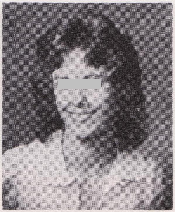 Class of 1979, a classmate who tried the Farrah Fawcett look (with mixed results)