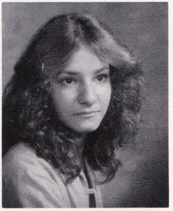 Class of 1979, high school graduation portrait, me donning a bad Farrah Fawcett hairstyle, 1979, image © 2009 by ybonesy, all rights reserved
