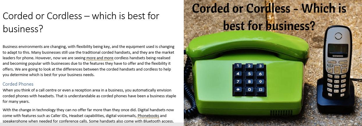 Telecommunications Blog Management