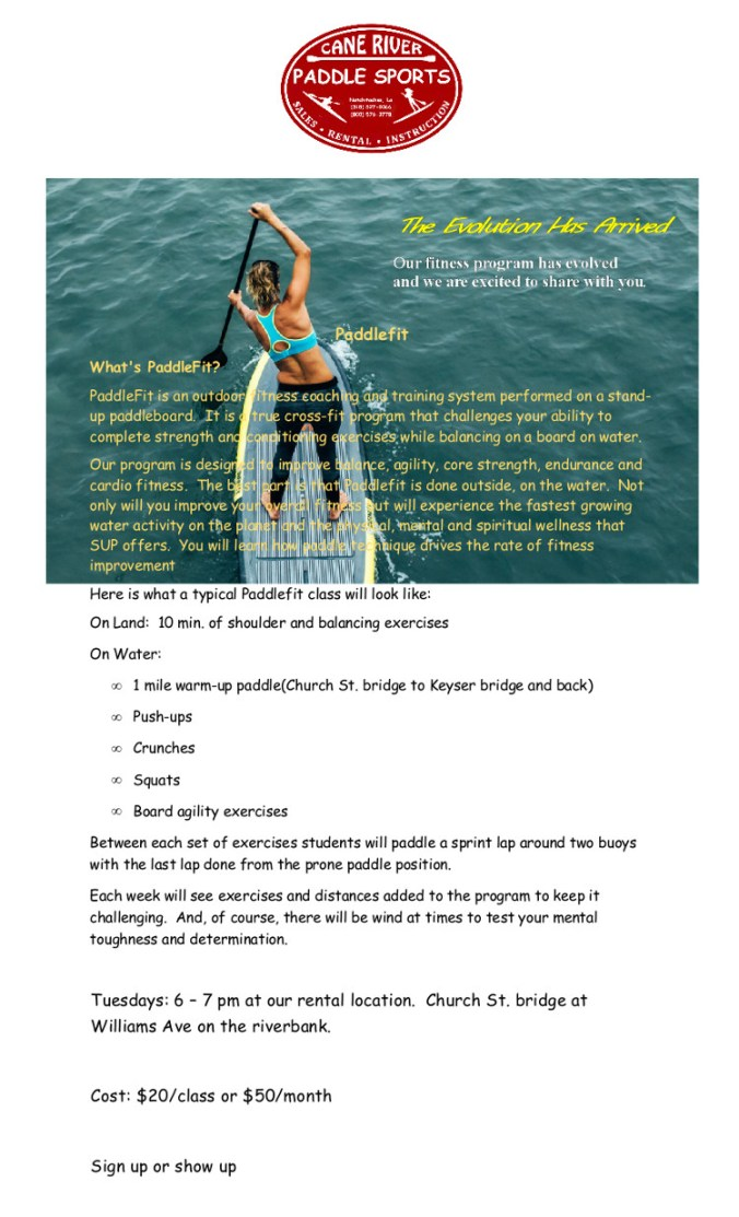 Paddfit flyer poster 1