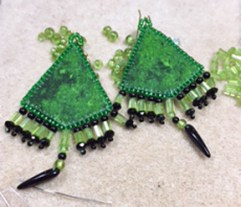 green-earrings