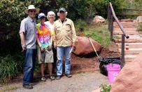 Garden team on May 16, 2015: Jim, Chris, Joan, Jack.