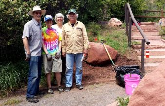 Garden team on May 16, 2015: Jim, Chris, Joan, Jack.