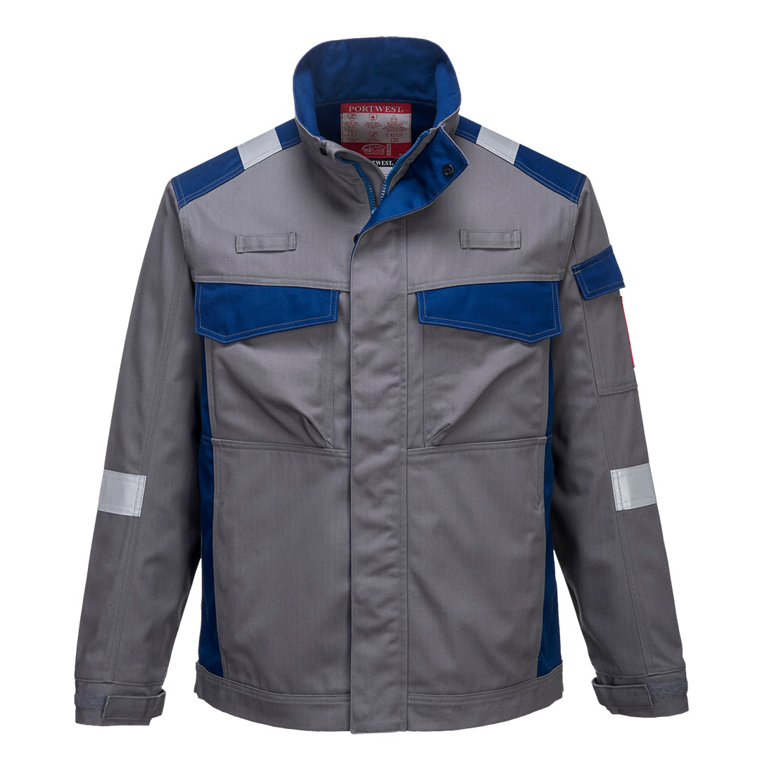 Portwest Bizflame Ultra Two-Tone Jacket - Grey Front