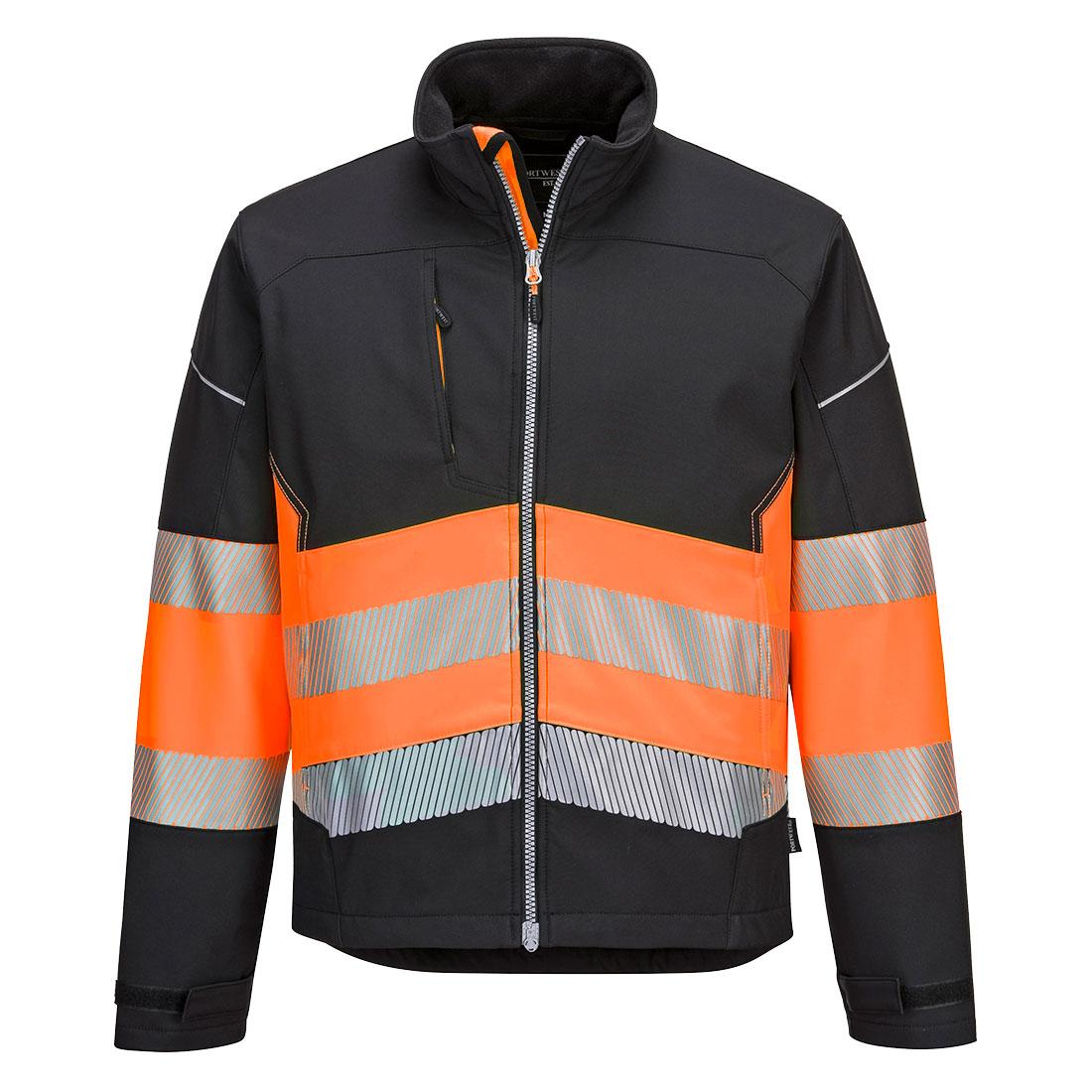 Portwest Hi-Vis Softshell Jacket - Black/Orange