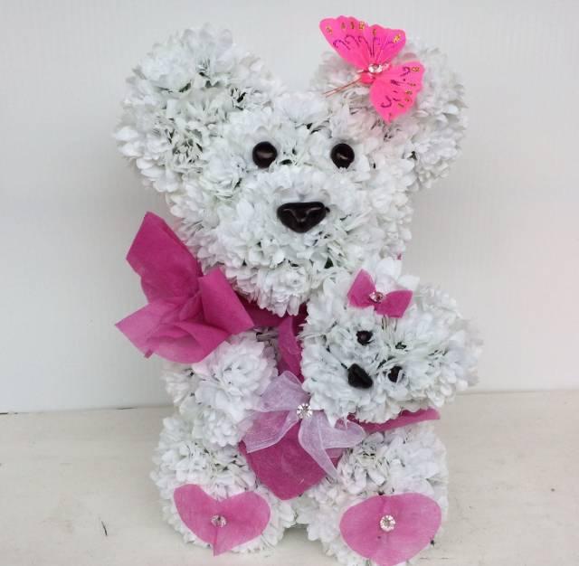 Mama medved od cveća 200eur