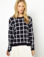 Whistles Lucia Check Jumper