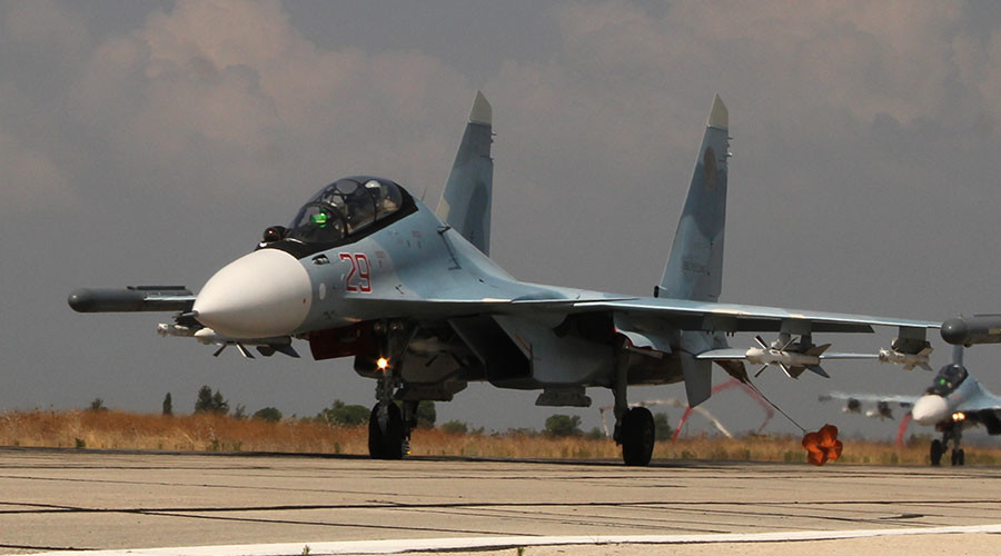 """Российская боевая авиация на аэродроме """"Хмеймим"""" в Сирии"""
