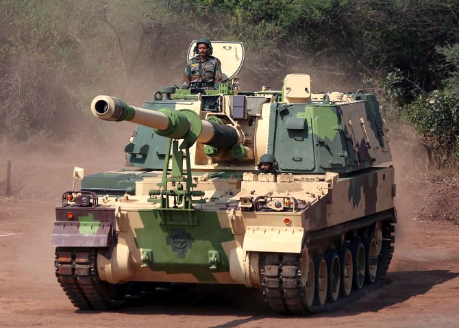 Defence minister inducts 3 major artillery gun systems