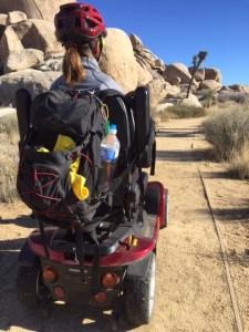 Cap Rock Trail, rearview