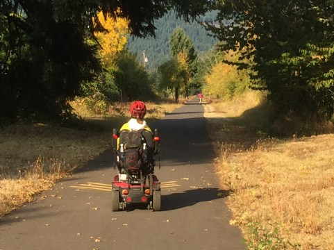The old Oregon, Pacific & Eastern Railway is now a national recreational trail