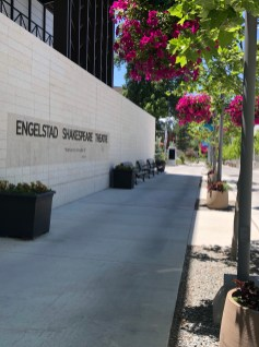 Outside the Engelstad Shakespeare Theatre