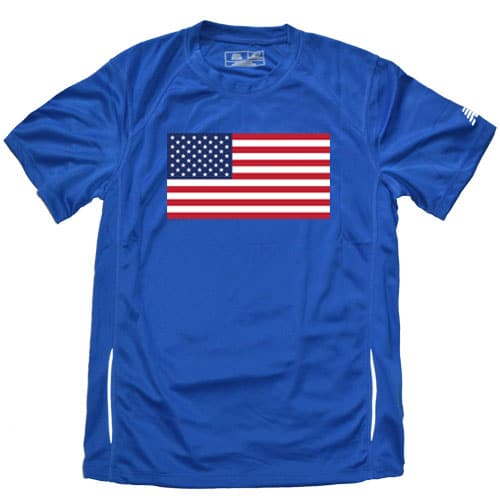 Blue American Flag Running shirt