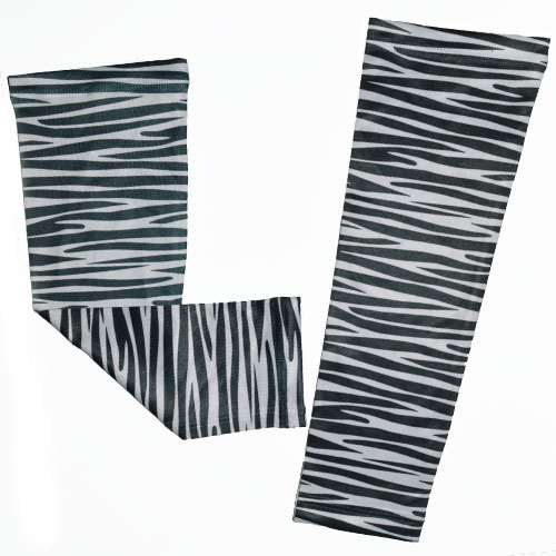 Zebra Running Arm Sleeves