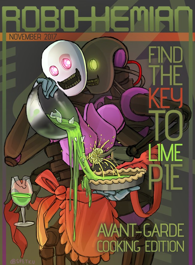 find the key to lime pie! Avant-garde cooking edition