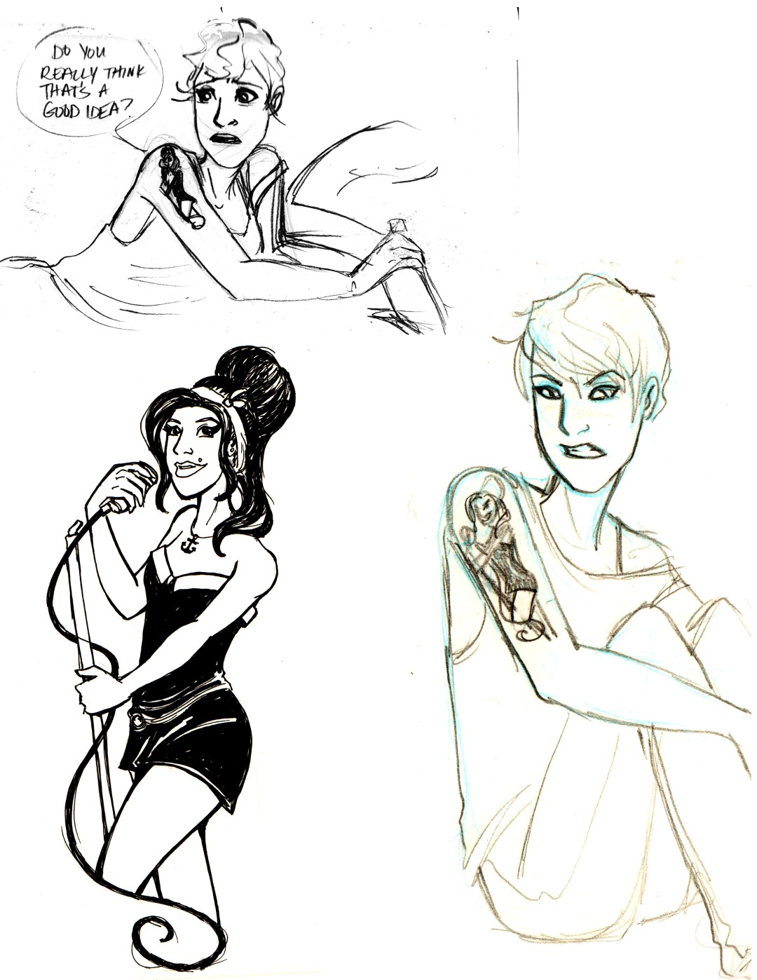 "character concept from ""Back to black"", story by Jennie Wood and Emily Swan, inspired by Amy Winehouse"