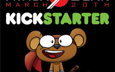 Blitz coming: NINJA BEAR comic & action plush goes live today for Kickstarter's #ALLin1