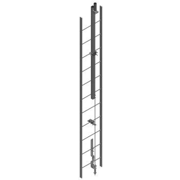 línea de vida vertical para escaleras hawk