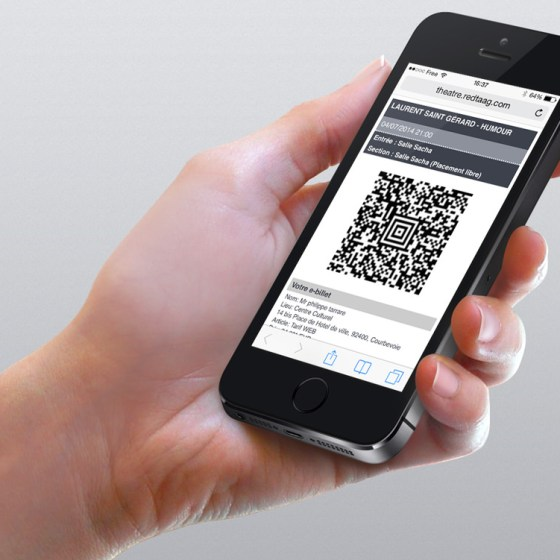 billet sur smartphone