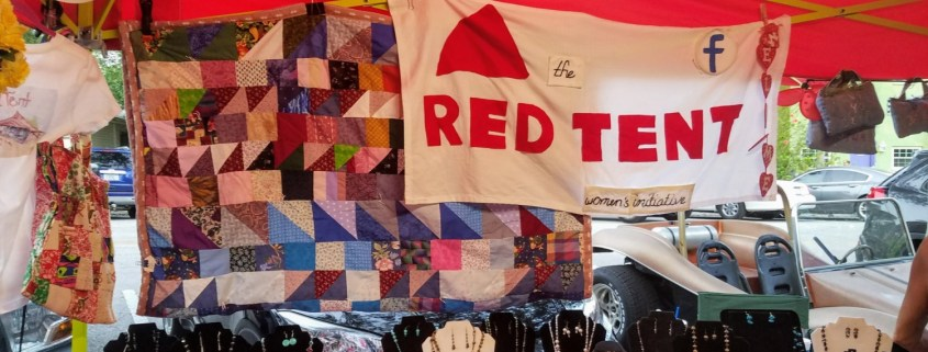 Red Tent Booth