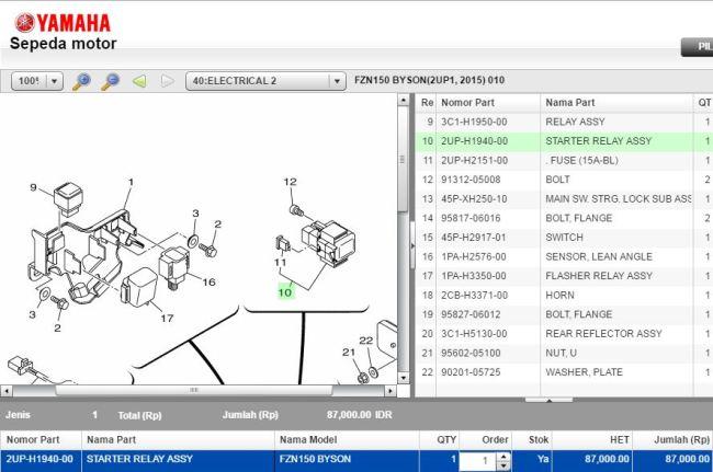 Subtitusi Murah Relay Starter Kawasaki Z250