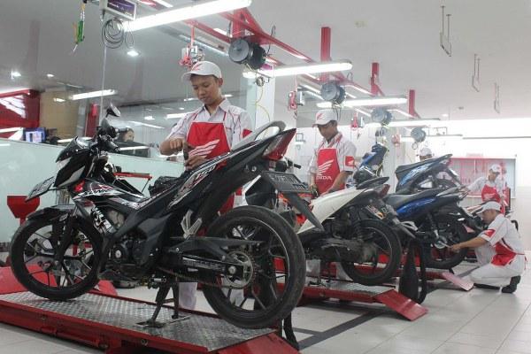 Nikmati Layanan Servis Motor Sebelum Mudik dari Honda