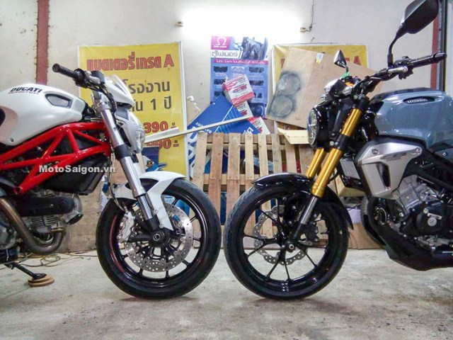 CB150R Exmotion VS Ducati Monster 796