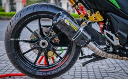 Modifikasi Honda Winner Alias Supra GTR Memakai Pro Arm Ducati