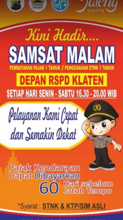 Samsat Malam Klaten