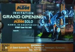 Grand Opening Dealer KTM Solo