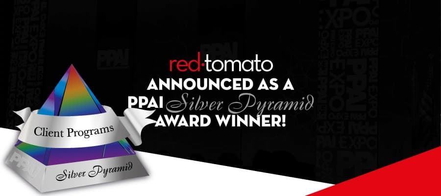Red Tomato announced a PPAI Silver Pyramid Award Winner!