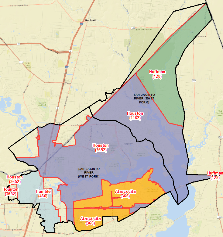 Damage Map Neighborhoods In Lake Houston Area Hardest Hit By Harvey