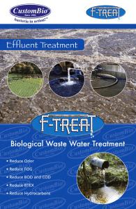 F-TREAT Wastewater Treatment Bacteria