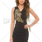 Rochie MissQ Shiny Chest Black