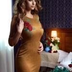 Rochie StarShinerS Brodata Rose Euphoria Gold