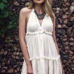 Rochie PrettyGirl Rose Touch White