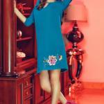Rochie StarShinerS Brodata Theo Rose Magic Turquoise